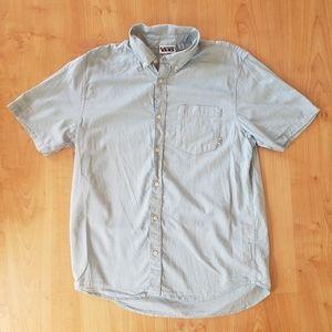 Vans Short Sleeve Light Blue Botton Up Shirt